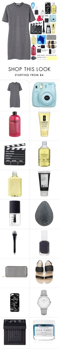 """trying to embrace the picture i paint"" by awakened-paradise ❤ liked on Polyvore featuring T By Alexander Wang, philosophy, Clinique, Baobab Collection, H2O+, Korres, NARS Cosmetics, Marc Jacobs, Essie and New Look"