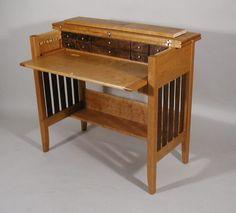 Black Walnut & Cherry Fly Tying Desk.