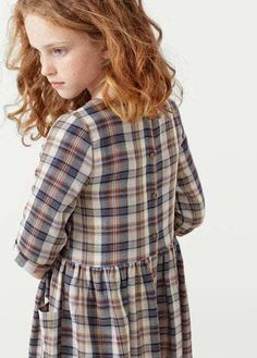 MANGO KIDS Two-Pocket Check Dress Baby Boy Fashion f87cf7613f