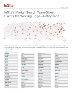 InSite Real Estate | 200+ Active Markets
