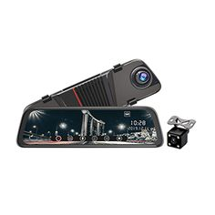Rosoto R20 Mirror Dash Cam 10 inch Touch Full Screen Front 1080P Rear 1080P Dual Lens 170 Degrees Wide Angle Rear View Dash Cam