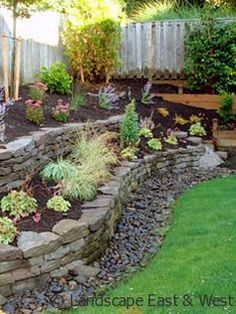 dry creek bed with french drain - Google Search