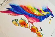 Colouring ✏ @titkoskertszinezokonyv #colour #colourful_shots #colourful #farbig #johannabasford #theenchantedforest #titkoskert #titkoskertszínező #colouringbookforadults #colouringbook #buvoserdo #szinezofelnotteknek #szinezo #szinezokonyv #meinzauberwald #zauberwald #bird #bunt #szines #fun #spaß #szorakozas