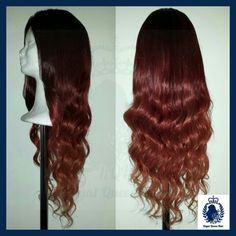 This is also one of my favourite custome made wigs I made. It's ombre in different shades of burgandy that fades away in diffrent shades of coper. redish, redhead