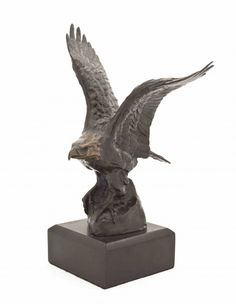 Laurence Isard, Bald Eagle, Bronze and marble, H:10 1/4 inches.