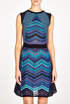 Patchwork Wave Knit Dress by M Missoni