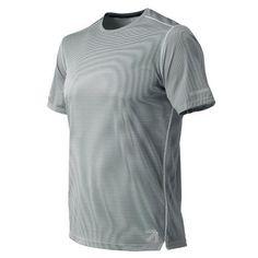 New Balance 71246 Men's J.Crew NB Ice 2.0 Printed Short Sleeve Tee - Grey/White (MT71246GTS)