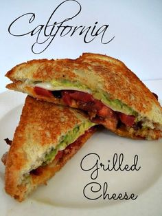 20 million ways to eat grilled cheese. This california grilled cheese plus 19 of the best grilled cheese recipes, there is something for everyone! Roast Beef Sandwich, Grill Cheese Sandwich Recipes, Grilled Sandwich, Soup And Sandwich, Chicken Sandwich, Grilled Food, Tomato Sandwich, Best Grilled Cheese, Grilled Cheese Recipes