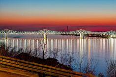 Mississippi bridge at Natchez, MS. Image by Mark Coffey
