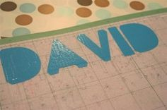 Duct tape/Cricut letters ~ Pinner said:  I used an old, worn cutting mat that wasn't very sticky anymore.  A new  mat would be far too sticky with the stickiness of the duct tape. Use one or more rows of duct tape as needed. I used med pressure, slow speed. It cut perfectly. I removed the tape around the letters, which made removing the letters easy.