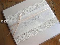 Lace Wedding Invitations With Monogram ---ea821 - Buy Classical Wedding Invitations,Ivory Lace Wedding Invitations,Wedding Invitations Product on Alibaba.com