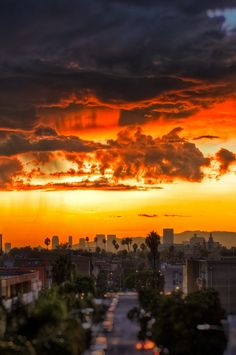 Sunset After the Rain by Mr Gold, via Flickr Sunset over Los Angeles looking West