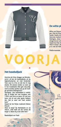 baseballjack, Miss Y, Yoek, wondervol, in de krant