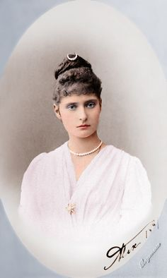 Empress Alexandra Feodorovna when Princess Alix of Hesse, 1881