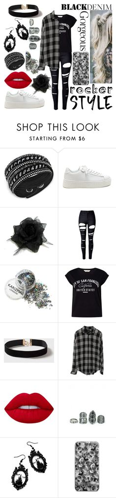 """""""Rosé"""" by sinemattic ❤ liked on Polyvore featuring Swarovski, WithChic, Miss Selfridge, Dorothy Perkins, Lime Crime and Curiology"""