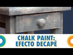 Pintar con chalk paint 1 - Efecto envejecido (Bricocrack) - YouTube