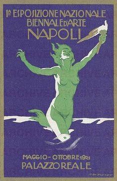 Esposizione Nazionale Biennale d'Arte Città di Napoli, 1921. Artist: Marcello Dudovich