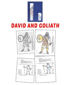 Get these printable David and Goliath crafts and coloring pages free! Fun, simple activities for kids all ages. Easily print each sheet needed. David And Goliath Craft, Paper Towel Tubes, Bible Lessons For Kids, Preschool Class, Religious Education, Kids Church, School Resources, 4 Kids, Craft Activities