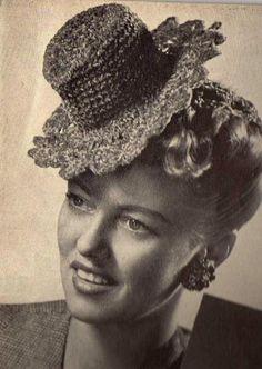 vintage top hat crochet pattern. hehehe.