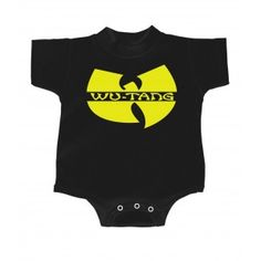 Baby bodysuit I listen to WU-TANG CLAN with AUNTY One Piece jersey t-shirt tee