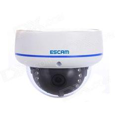 ESCAM Q645R Onvif Waterproof 720P CMOS 3.6mm Lens Network IP Camera w/ 15-IR LED - White (UK Plug)