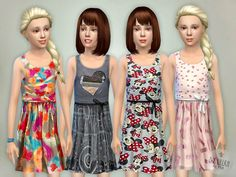 Sims 4 CC's - The Best: Dresses for Girls by Lillka