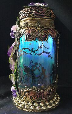 Enchanting Fairy In A Jar Light ,pixie,magical,OOAK, Mythical,fantasy,Gift  | eBay Enchanted Fairies, Fantasy Gifts, Fairy Jars, Jar Lights, Pixie, Vines, Ebay, Arbors, Grape Vines