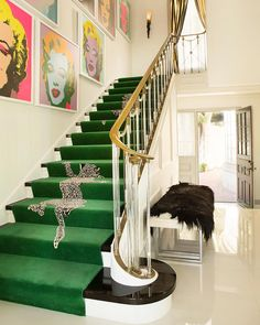 Living Room Green Carpet Stair Runners 39 New Ideas Carpet Staircase, Interior Staircase, Staircase Design, Staircase Ideas, Hall Carpet, Living Room Green, Living Room Carpet, Green Carpet, Carpet Colors