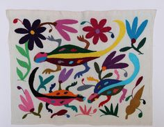 Otomi Fabric piece Super High Quality by DeseosDeMexico on Etsy, $30.00