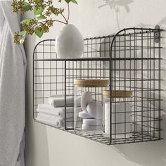 Find Elyse Vintage Wall Storage Organizer With Wall Baskets Dotted Line? Shop the latest collection of Elyse Vintage Wall Storage Organizer With Wall Baskets Dotted Line? from the popular stores - all in one Metal Wall Basket, Wire Basket Storage, Wire Storage, Basket Shelves, Wire Baskets, Baskets On Wall, Wire Shelving, Letter Holder Wall, Tiny Laundry Rooms