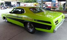 """The Muscle Car History Back in the and the American car manufacturers diversified their automobile lines with high performance vehicles which came to be known as """"Muscle Cars. Pontiac Gto, Chevrolet Camaro, Supercars, Plymouth Duster, Mustang Cars, Us Cars, Drag Cars, American Muscle Cars, Car Humor"""