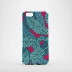 Banana Leaf Print iPhone 6 Case, iPhone 6 Plus Case, iPhone 5 Case, iPhone 5S Case, iPhone 5C Case, iPhone SE Case,  iPhone 6s case