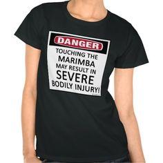 Danger Marimba Shirt - don't touch the marimba marching band pit crew t-shirt  drumline