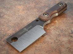 "Kingdom Armory tactical Cleaver/Chopper, this is a ""one-off"" and is marked on the blade so, it comes with a well made Kydex sheath, 2 cutting surface 6 overall and a thick! – This is must have for the Kingdom Armory collector. Cool Knives, Knives And Tools, Knives And Swords, Kydex Sheath, Knife Sheath, Messer Diy, Cleaver Knife, Best Pocket Knife, Tactical Knives"