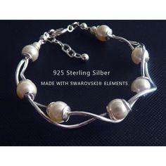 Sterling Silber Brautschmuck Armband