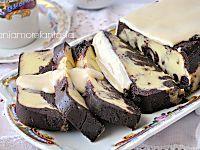 Mattonella al cioccolato e vaniglia con salsa al cocco  maniamore blog