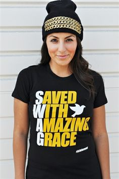 "SWAG= Saved With Amazing Grace Christian T-Shirt is based on Ephesians 2:8 For it is by grace you have been saved, through faith--and this not from yourselves, it is the gift of God."" #swag #grace #ephesians"
