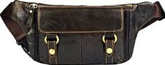 Cheap Genda 2Archer Men's Women's Genuine Leather Waist Bum Bag Fanny Pack Hip…