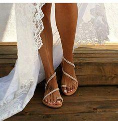 Chouette Femme Ete Sandales Spartiates Plat Chaussure Casual