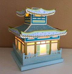 from svgcuts.com Spring Blossoms kit - pagoda.  The hardest part is always picking out the paper!