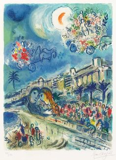 Marc Chagall, Bataille de Fleurs (Carnaval of Flowers) from Nice and the Côte d'Azur, 1967
