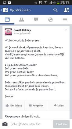 Witte chocolade botercremé