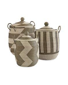 Striped La Jolla Baskets - Serena & Lily