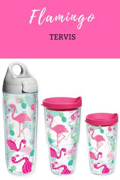 aeabbb653f Love these Tervis Whimsical Flamingo Wrap Tumblers, they're good for hot or  cold
