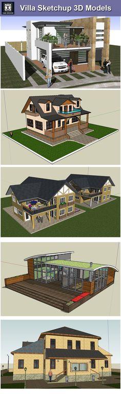 【Download 13 Kings of Villa Sketchup 3D Models】 (Recommanded!!)