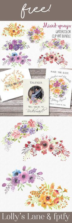 FEATURED DESIGNER: Lolly's Lane Free Mixed Floral Sprays!