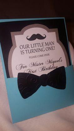 Invitación de cumpleaños de pequeño hombre por CraftySistersPlus1