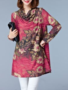 c4bd93ed251a Cowl Neck Floral Printed Shift Dress is hot sale on ByChicStyle, come to  ByChicStyle to