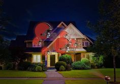 NFL House Home LED Pride Projector Projection Light Indoor Outdoor Cleveland Browns