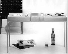 BRAUN Studio 1, Radio-Phono-Tonband-Baukastensystem Hans Gugelot mit gugelot-institut, Herbert Lindinger, Diplomarbeit unter Hans Gugelot, 50er